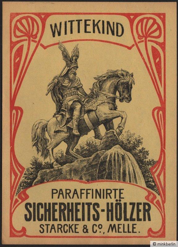 Etikett für Streichhölzer - Wittekind - Matchbox label  boîte d'allumettes #746 0