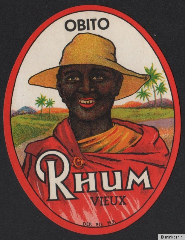 Obito Rhum vieux - Rum Etikett / rhum label / etiquette de rhum / ~ 1920 #2145