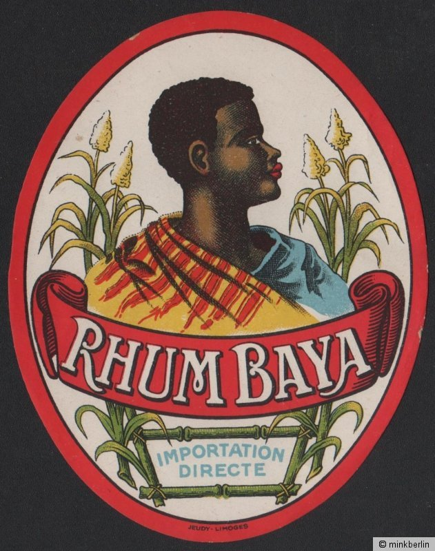 Rhum Baya - Rum Etikett / rhum label / etiquette de rhum / ~ 1930 #2134