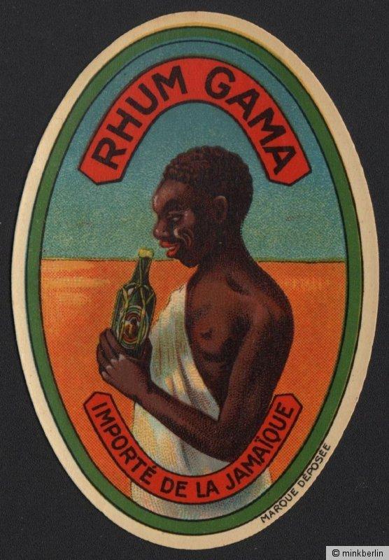 Rum - Rhum Gama Etikett / rhum label / etiquette de rhum / ~ 1930 #2129