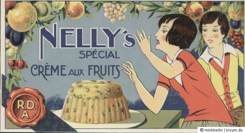 Etikett - ca. 1920 - Nelly's Crème aux Fruits / Kuchen -  # 454