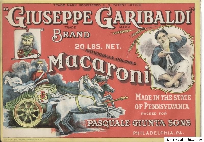 Etikett für Nudeln / Makkaroni - Garibaldi Macaroni label - ca. 1930 - # 382