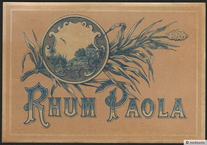 Etikett für Rhum Paola / Rum - étiquette de rhum - rhum label  # 1189