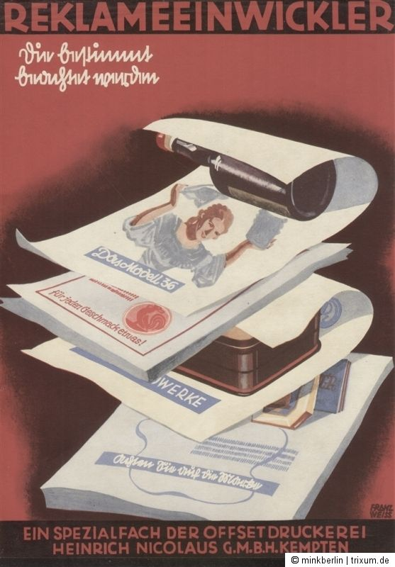 Einwickelpapier / Einwickler - Hohner Musikinstrumente / Tante Emma Laden