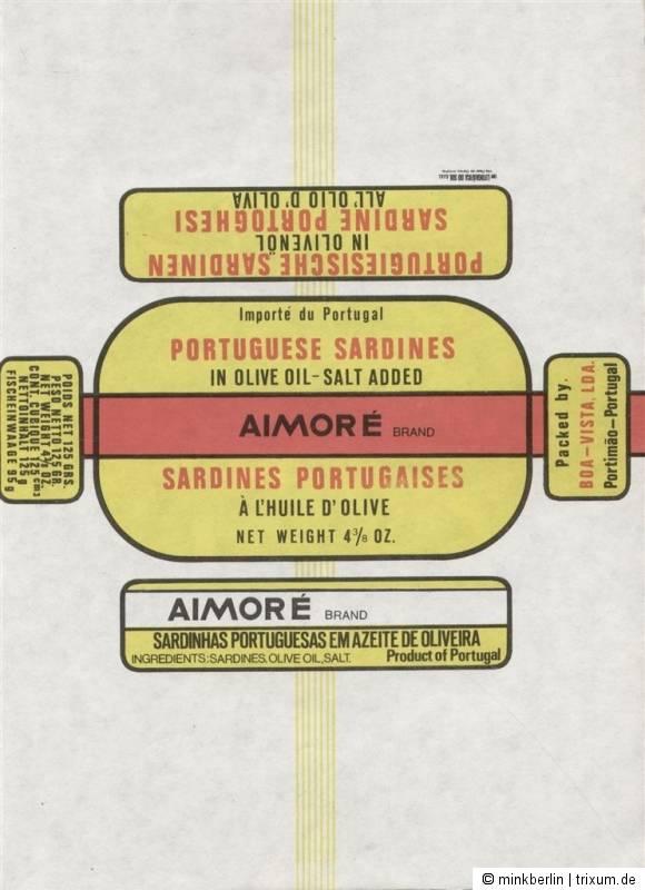 Etikett / Einwickelpapier - Sardinendose - Sardinen / sardine  # 339