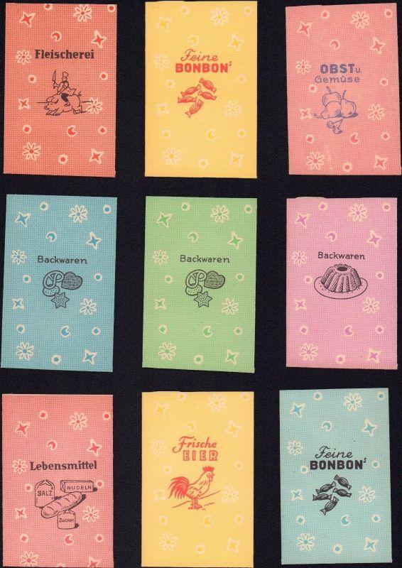 9 DDR Tüten für Kinder Kaufmannsladen / 9 GDR bags for children's shop / sacs