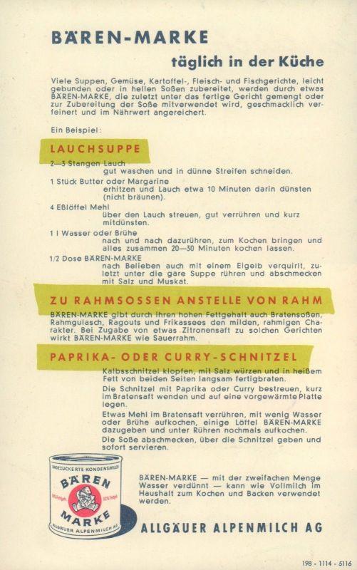 Faltprospekt - Kleine Köstlichkeiten aus Bären-Marke \