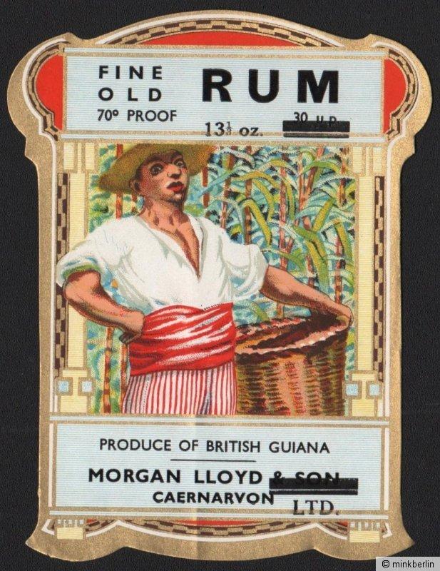 Etikett für Fine old Rum / Rhum - étiquette de rhum - rhum label  # 1190