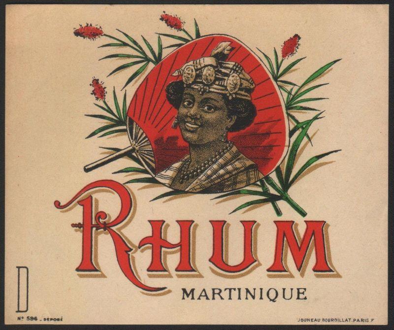 RHUM MARTINIQUE - Etikett für Rum / rum label / etiquette de rhum #2543