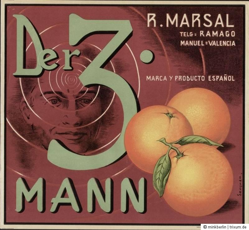 Etikett für Orangen Kiste - Film 2 - Spanien 1950
