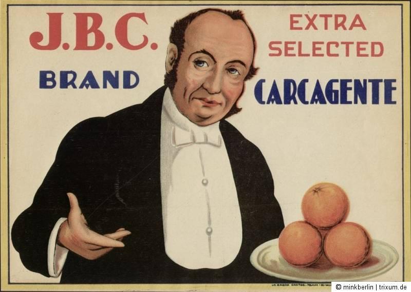 Etikett für Orangen Kiste Spanien 1930