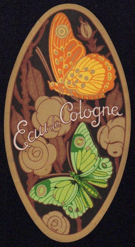 Etikett für Eau de Cologne -  perfume label - Étiquette - ca.1930 #2630