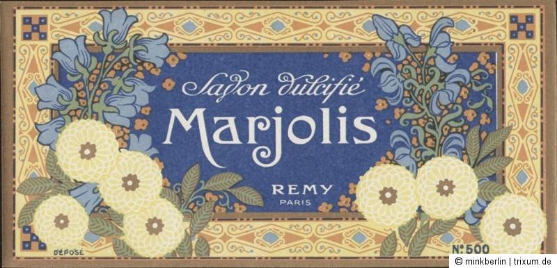 Etikett für Seife - Savon Marjolis - Chromolithografie - ca. 1930 - # 80