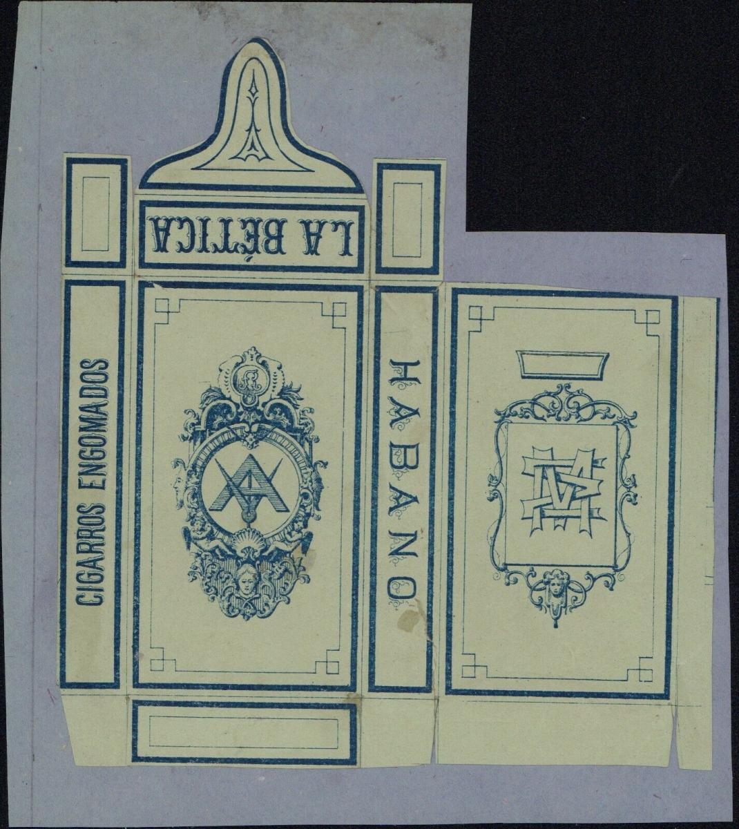 Etikett - La Bética - Cigarros Engomados, Habano, ca.1860