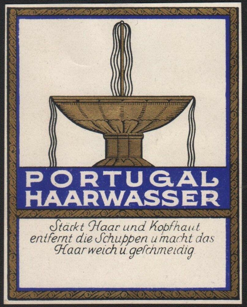 Etikett für Kosmetik - Portugal Kopfwasser - label - étiquette #2412