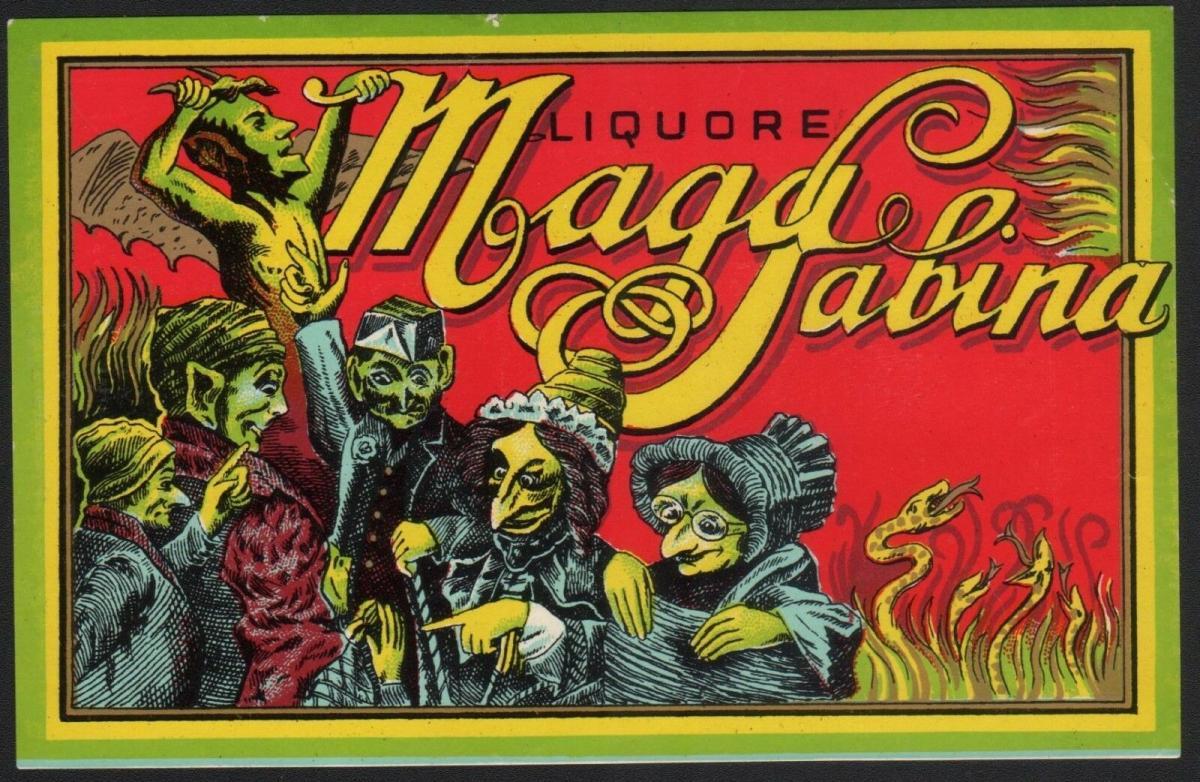 Etikett für Likör MAGA SABINA / liquor label / etiquette de liqueur #2391