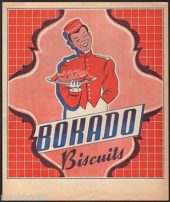 Etikett für Kuchen / Gebäck / Biscuit - Bokado - Belgien ca. 1930 # 1176