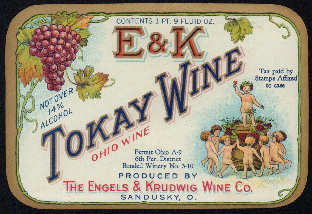 Etikett Weinetikett - Tokay Wine - Ohio Wine USA - von ca. 1910