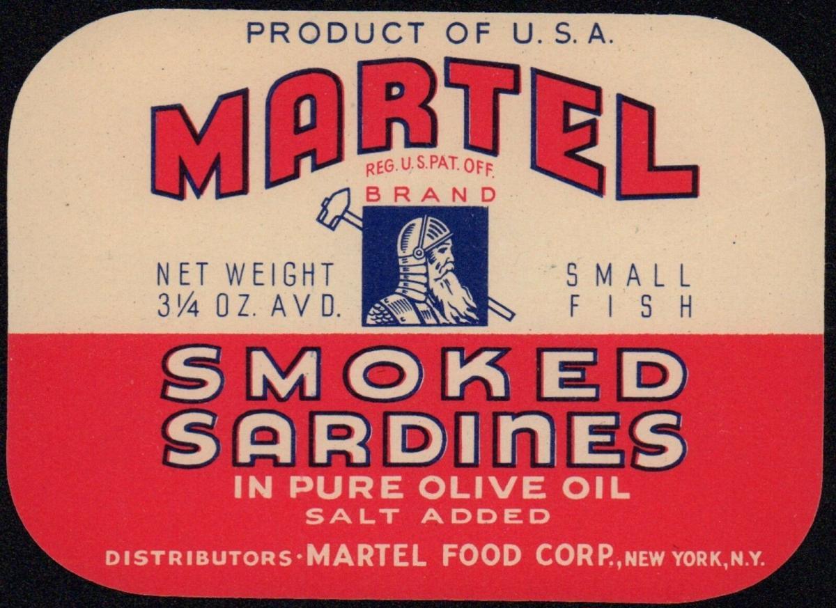 Etikett / Etiquette / label - Sardinendose - MARTEL Sardinen / sardine  # 314