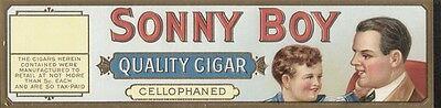 Etikett für Zigarrenkiste - Sonny Boy / schmal - Lithografie  - ca. 1920 - # 634