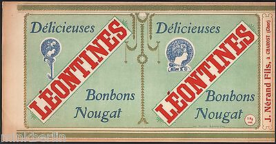 Etikett für Délicieuses Nougat Bonbons - Léontines  - Frankreich ca. 1920 # 1177