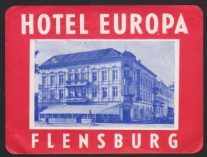 Hotel Kofferetikett / luggage label - Hotel Europa Flensburg