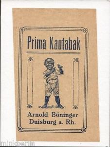 Einwickelpapier - Prima  Kautabak Arnold Böninger - ca. 1920  # 638