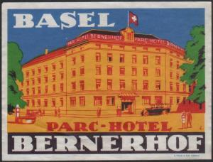 Hotel Kofferetikett / luggage label - Parc Hotel Bernerhof - Schweiz
