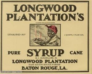 Etikett für Zuckerrohr Sirup - ca. 1930  # 613
