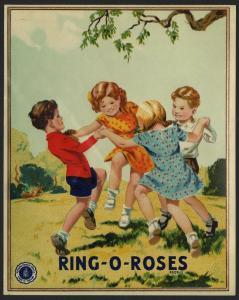 Etikett für Stoffe - Stoffballen / fabric label - England ca. 1930 # 1608