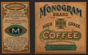 Etikett für Kaffee / étiquette de café / coffee label / USA ca.1900 # 1597