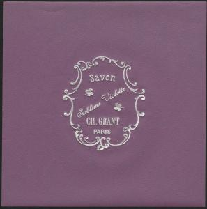 Etikett für Seife / étiquette de Savon Violette / soap label / ca.1920 # 1595