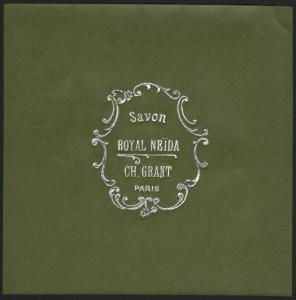 Etikett für Seife / étiquette de Savon Royal Neida / soap label / ca.1920 # 1594
