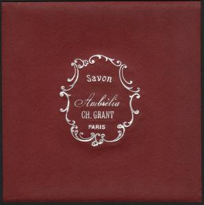 Etikett für Seife / étiquette de Savon Ambrelia / soap label / ca.1920 # 1592