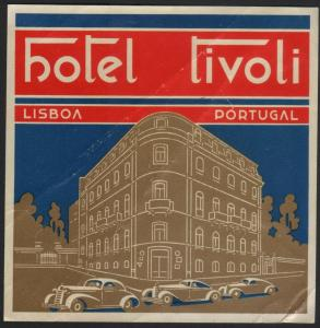 Koffer Etiket / Hotel Tivoli Lisboa / luggage label / étiquette de bagage #2213