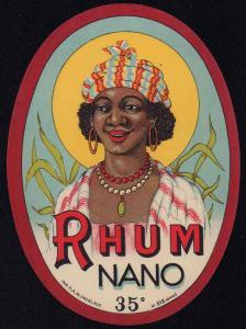 Etikett für Rum - RHUM NANO - rum label - etiquette de Rhum #1239