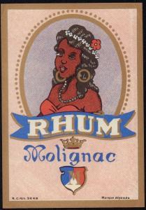 Etikett für Rum - RHUM MOLIGNAC - rum label - etiquette de Rhum #1111