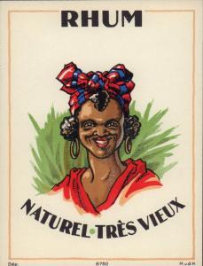 Etikett für Rum - RHUM NATUREL - rum label - etiquette de Rhum #1203