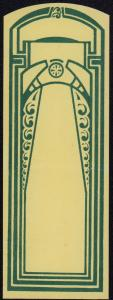 Jugendstil Etikett blanko - blank label  - étiquette vierge - ca.1930 #2599