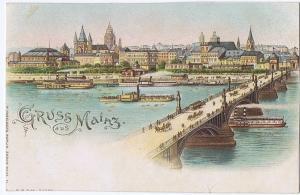 Litho,Gruß aus Mainz,ungel.um 1900