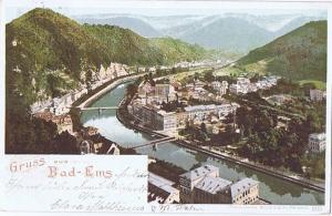 Litho,Gruß aus Bad Ems,gel.1897