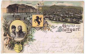 Gruß aus Stuttgart gel. 1899