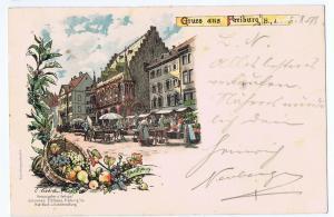 Gruß aus Freiburg gel. 1898