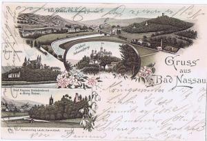 Litho,Gruß aus Bad Nassau gel.1897