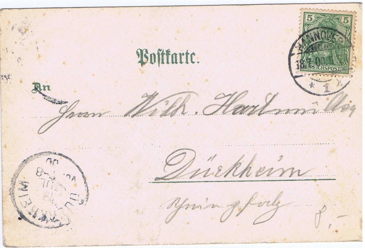Litho,Gruß aus Hannover,gel.1900 1