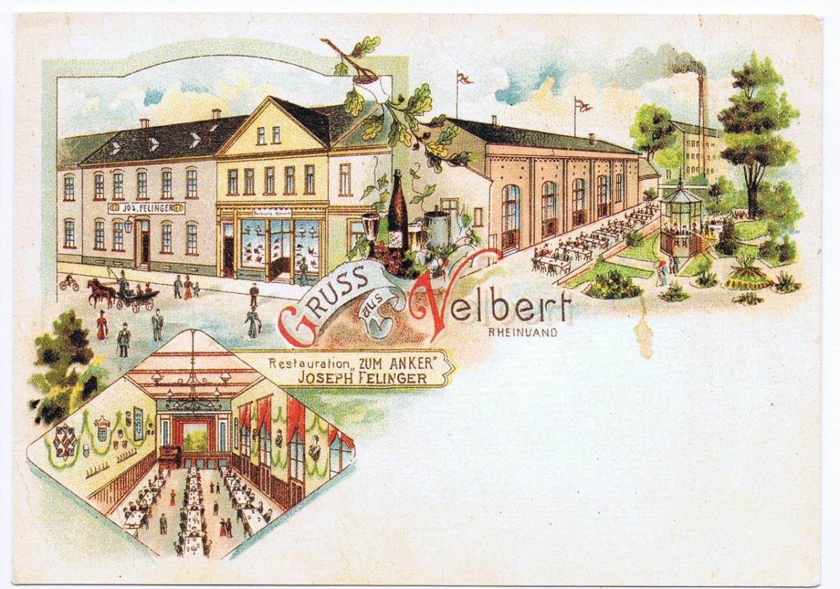 Litho,Gruß aus Velbert,ungel.um 1900 0