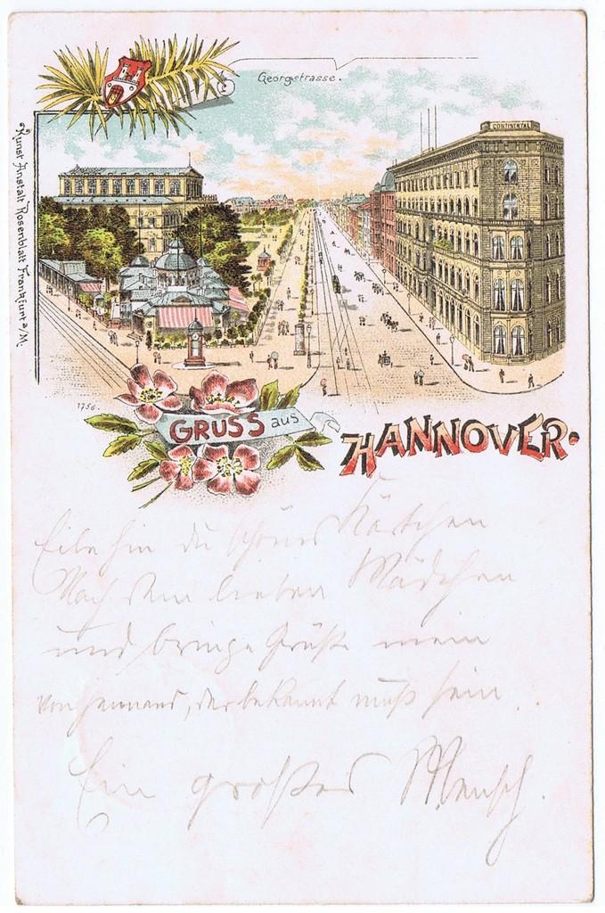 Litho,Gruß aus Hannover,gel.1898  0