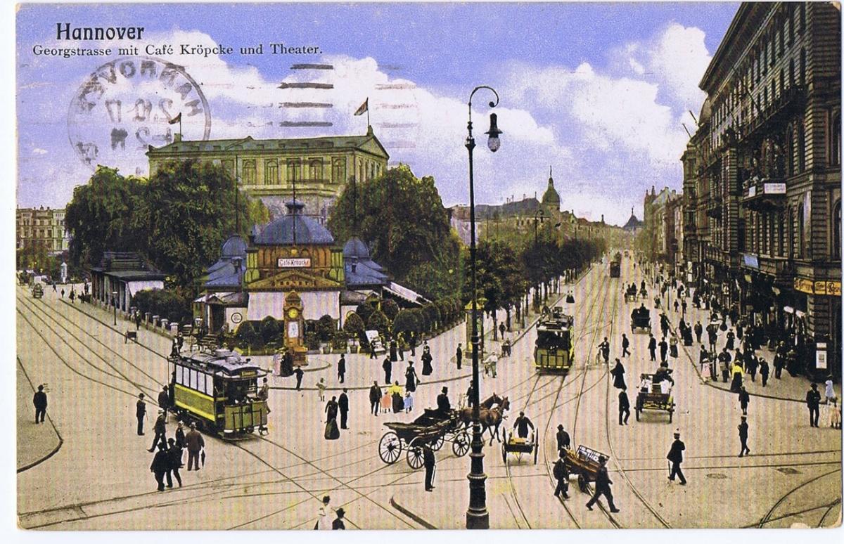 Litho,Gruß aus Hannover,gel.1917 0
