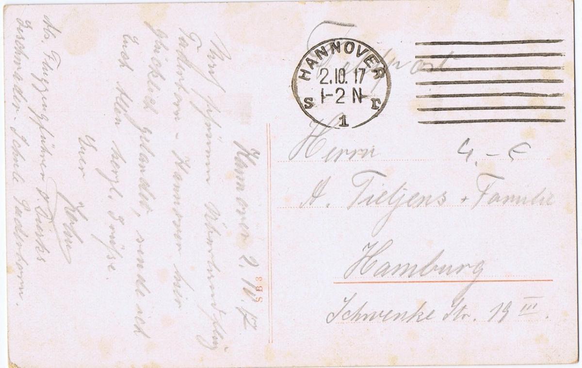 Litho,Gruß aus Hannover,gel.1917 1