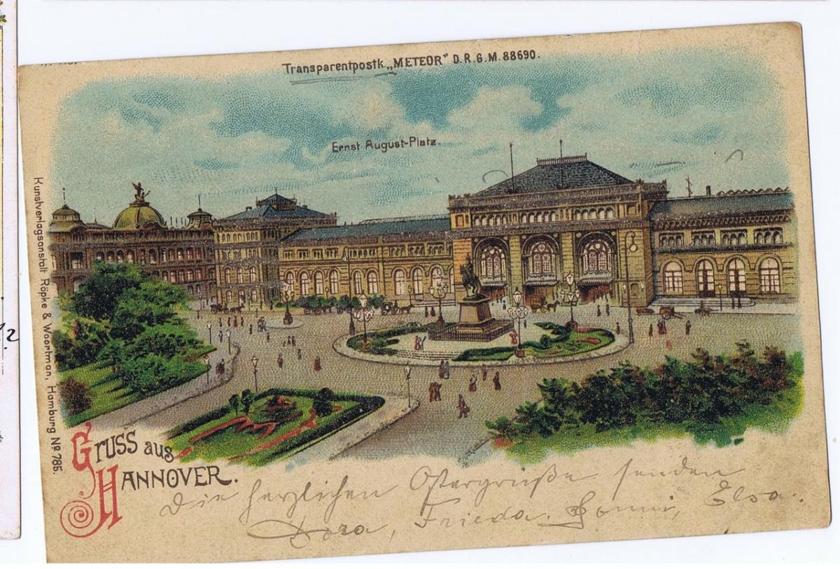 Litho,Gruß aus Hannover,gel.1901  0